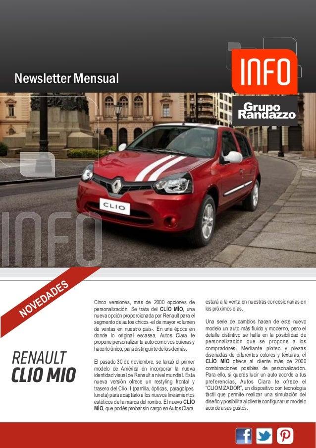 Newsletter Mensual             S         A DE     ED          Cinco versiones, más de 2000 opciones de              estará...