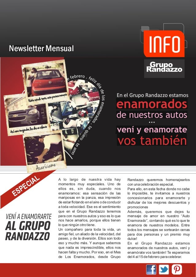 Newsletter Mensual                                                      so ommomento o                                    ...