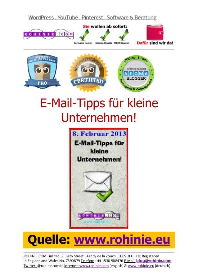 E-Mail-Tipps für kle...