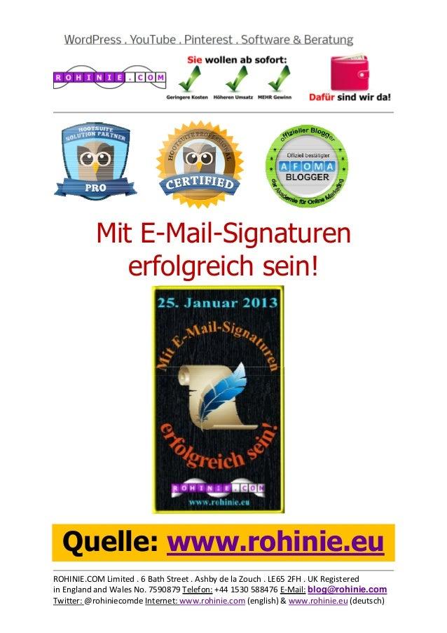Marketing-Erfolge mit E-Mail-Signaturen!