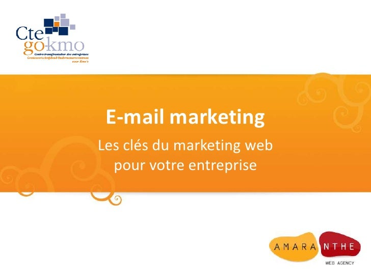 E-mail marketing<br />Les clés du marketing web pour votre entreprise<br />