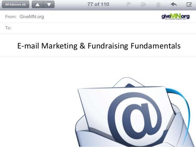 E-mail Marketing & Fundraising Fundamentals