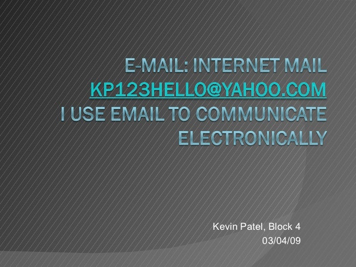 E Mail Ppt
