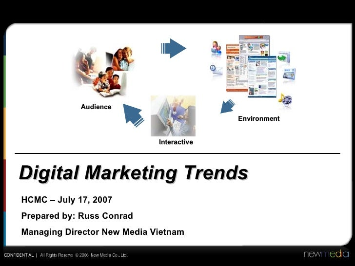 Digital Marketing Trends Audience Environment Interactive HCMC – July 17, 2007 Prepared by: Russ Conrad Managing Director ...