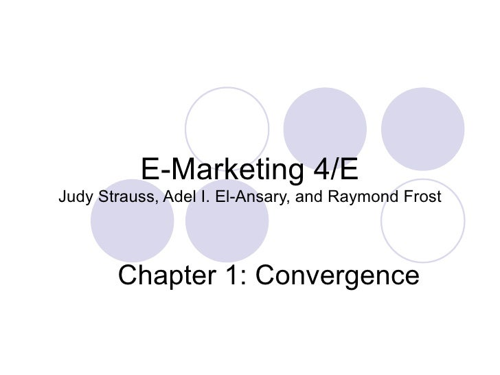 E Marketing Ch1 Convergence
