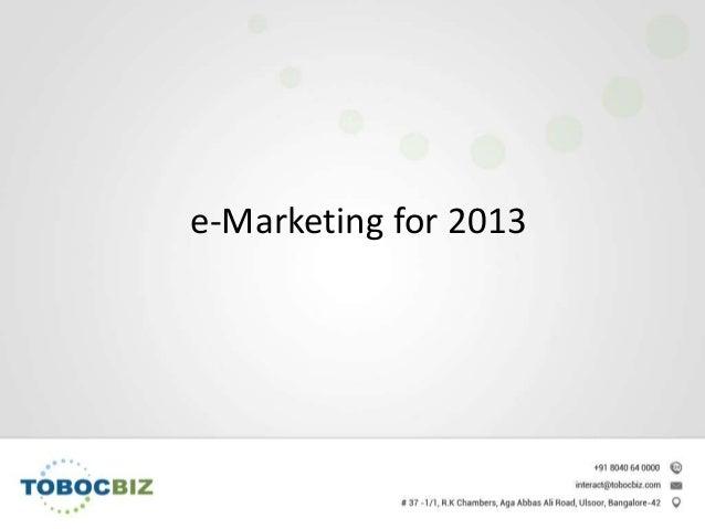 e-Marketing for 2013