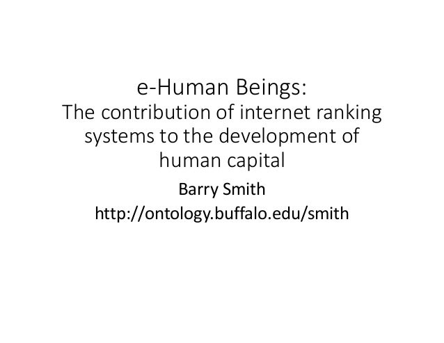 e‐Human Beings: The contribution of internet ranking systems to the development of human capital