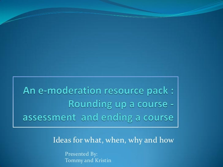 Ideas for what, when, why and how   Presented By:   Tommy and Kristin