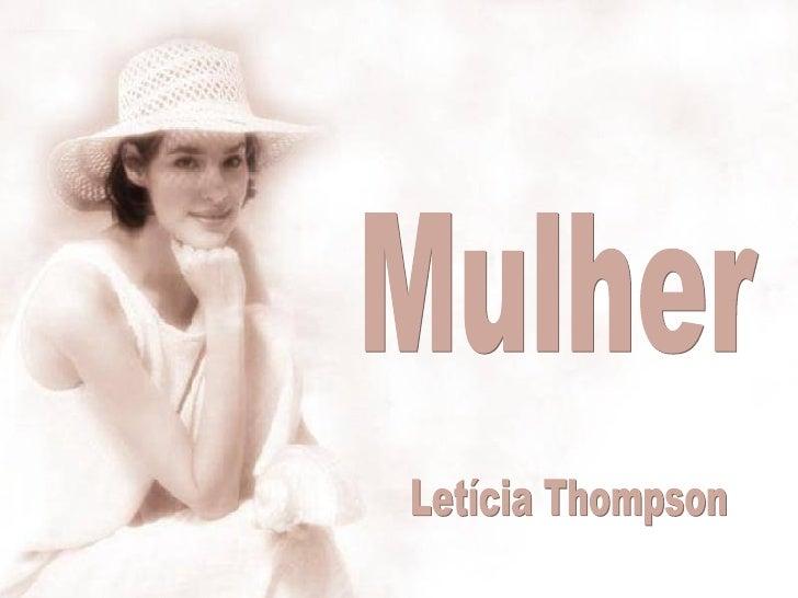 Mulher Letícia Thompson