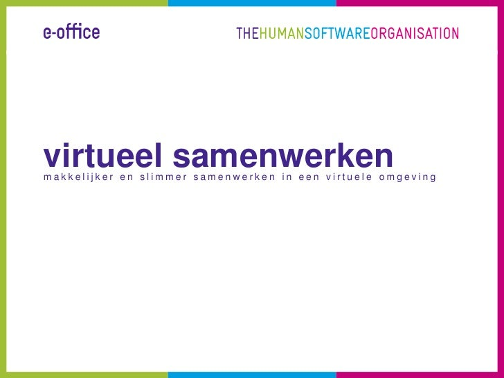 e-office Workshop Virtueel Samenwerken