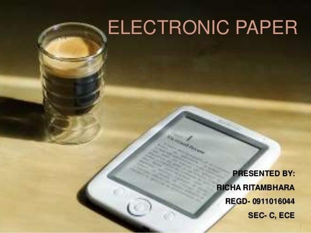 e paper technology ppt