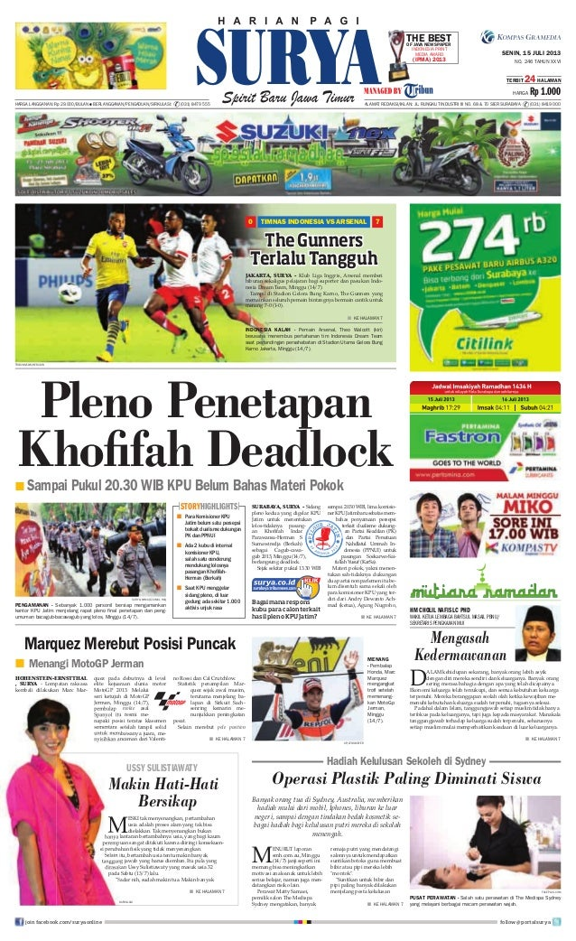 Epaper Surya 15 Juli 2013