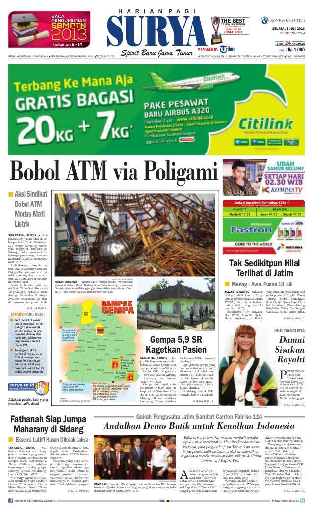Epaper Surya 9 Juli 2013