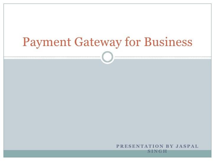E payment presentation