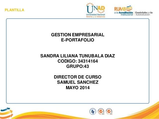 E portafolio Sandra Lliliana Tunubala Diaz grupo- 43