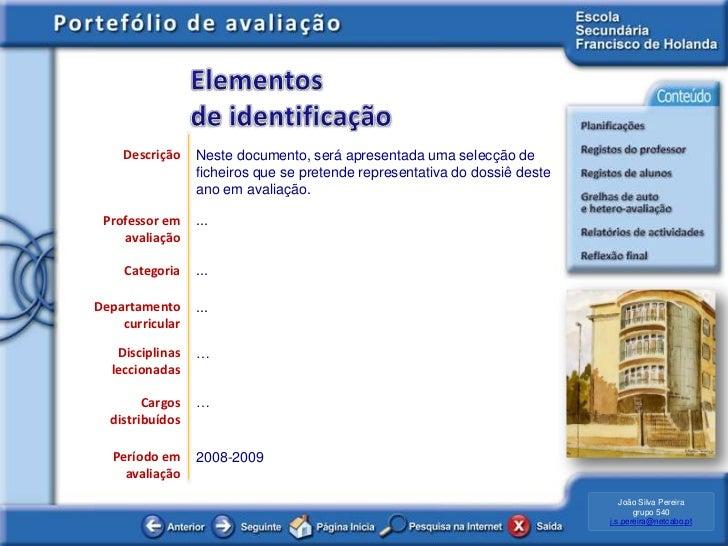 e-Portefólio de avaliação de desempenho