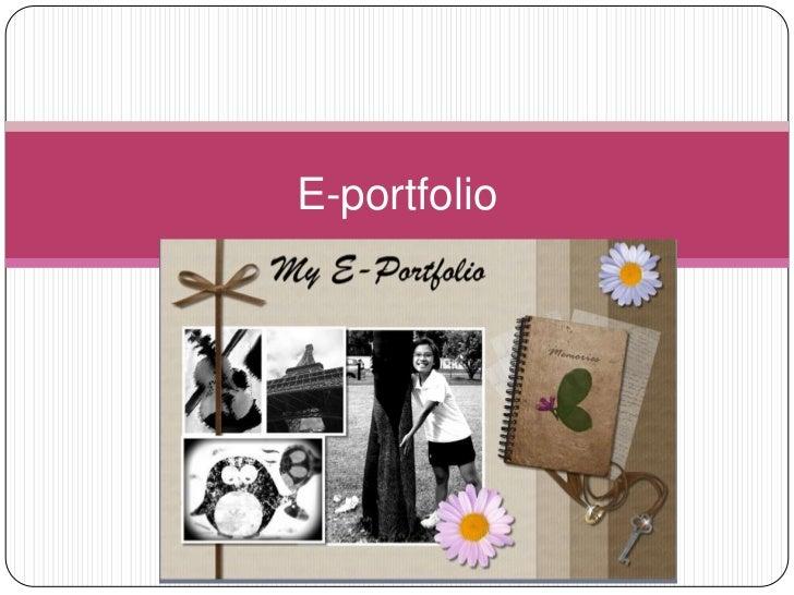 E portfolio