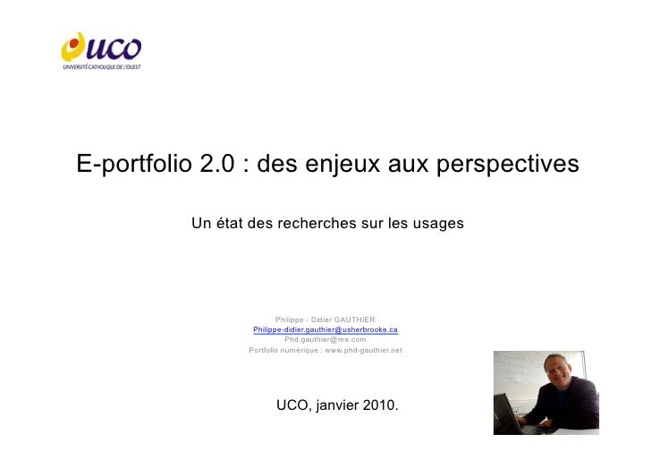 Usages du e-Portfolio 2.0 : Des enjeux aux perspectives