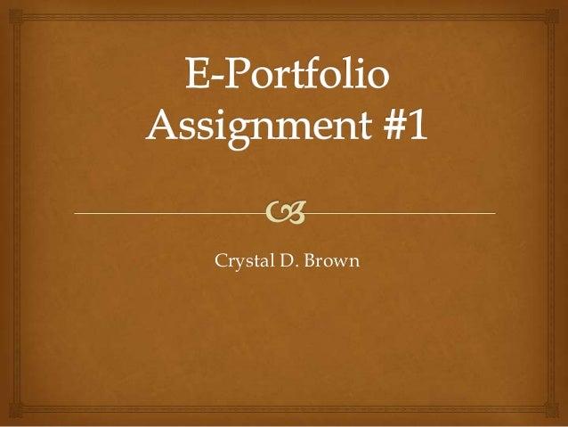 Crystal D. Brown