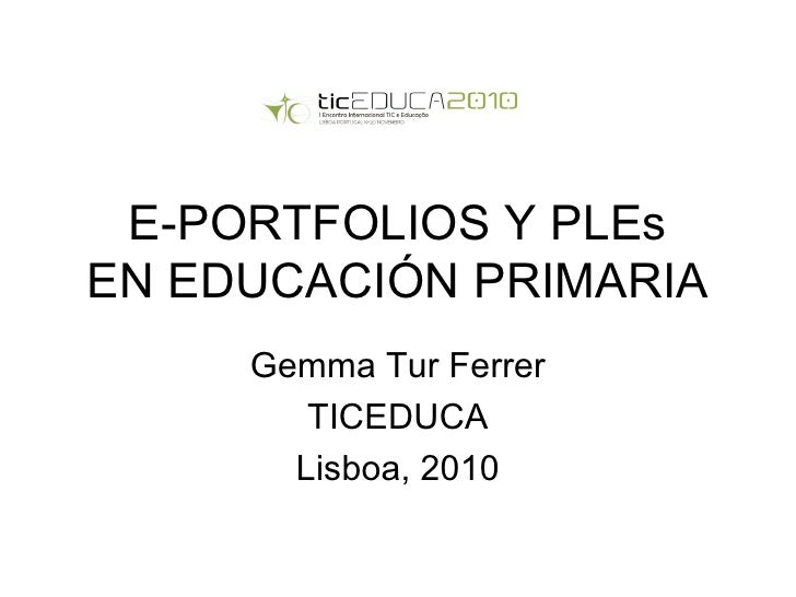 E portfolios y pl es-ticeduca2010