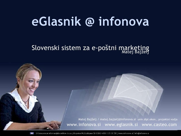 INFONOVA - Matej Bajželj - Sistem za e-poštni marketing