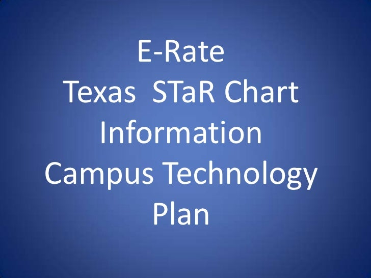 E-Rate<br />Texas  STaR Chart Information<br />Campus Technology Plan<br />