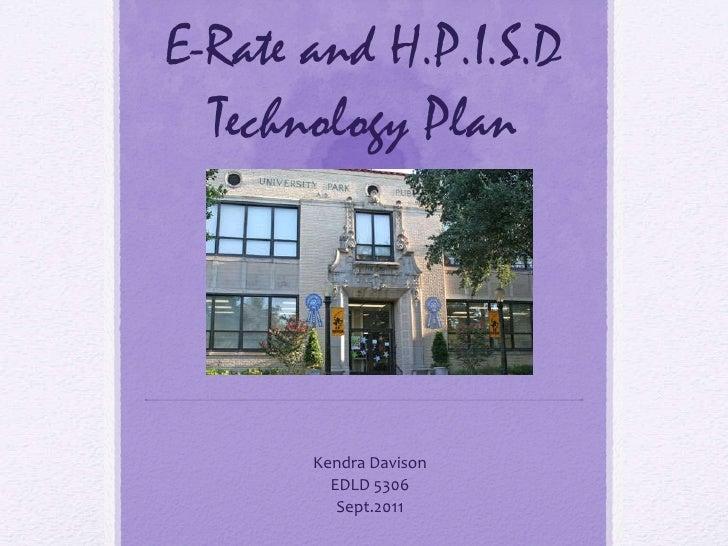 E rate technology plan