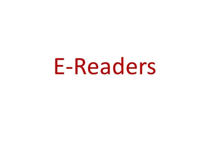 E-Readers<br />