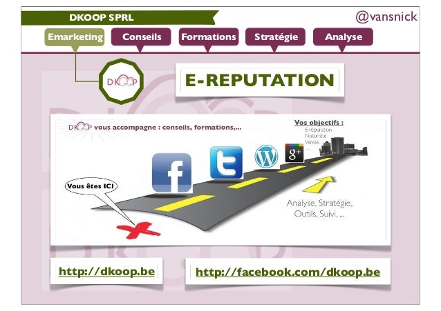 DKOOP SPRL                                         @vansnickEmarketing   Conseils   Formations   Stratégie   Analyse      ...