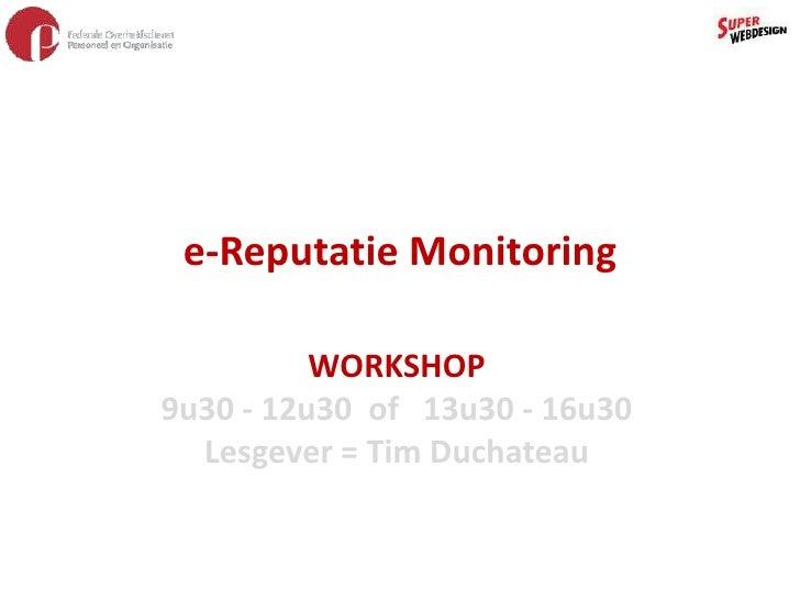 E-reputation Management