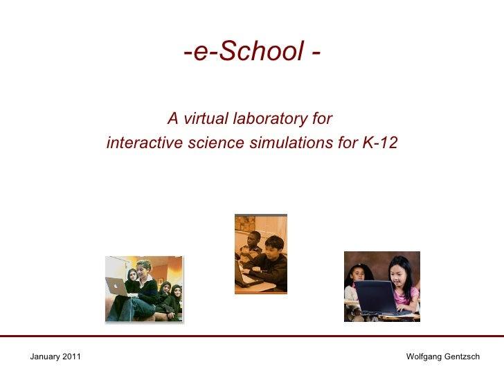 e-School Interactive Virtual Science Laboratory