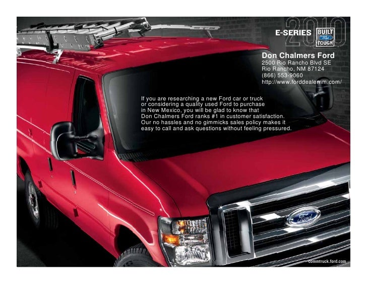 E-SERIES                                               Don Chalmers Ford                                              2500...