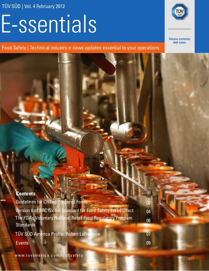 TÜV SÜD | Vol. 4 February 2012E-ssentialsFood Safety | Technical industry e-news updates essential to your operations     ...