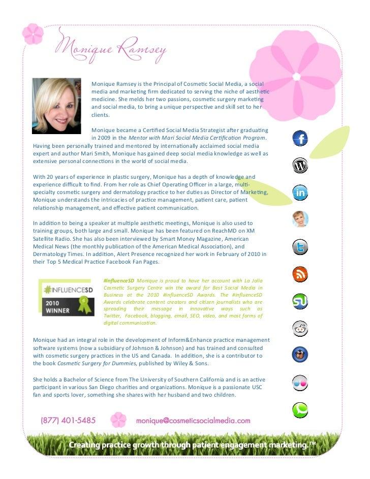 Monique Ramsey, Healthcare Social Media & Marketing Specialist at Cosmetic Social Media