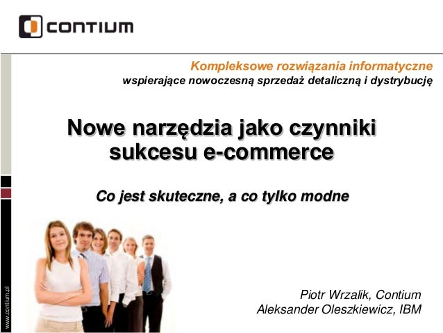 Nowe narzędzia jako czynniki sukcesu e-commerce.