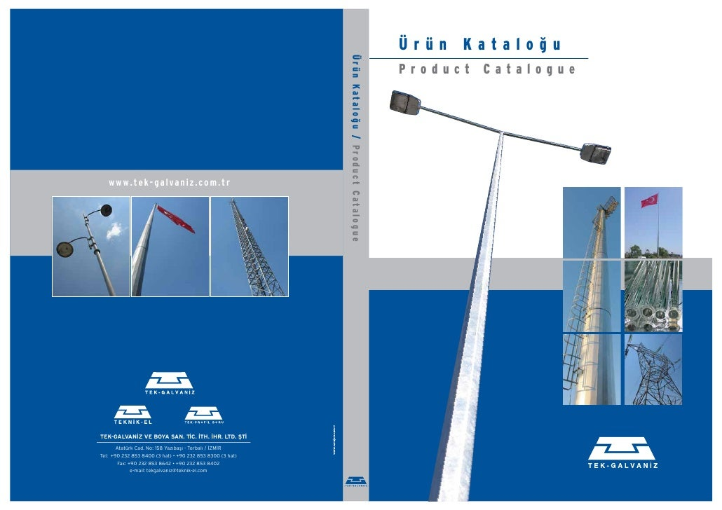 Tek Galvaniz Product Catalogue