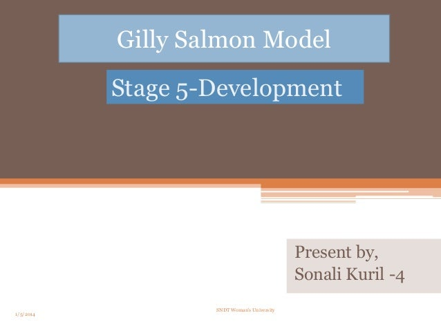 Gilly Salmon Model Stage 5-Development  Present by, Sonali Kuril -4 1/5/2014  SNDT Woman's University  1
