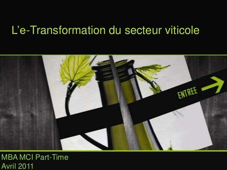 E-transformation du secteur du vin