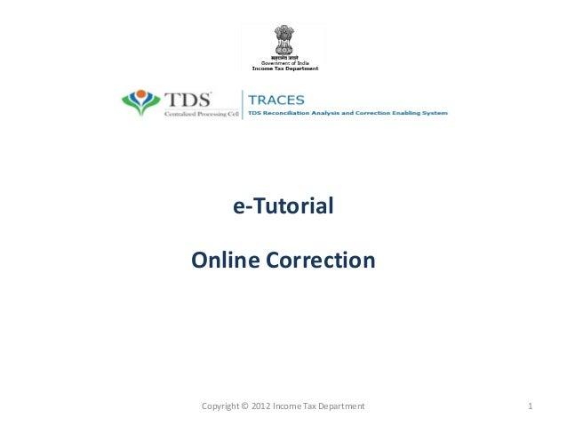 E tutorial-filing correction