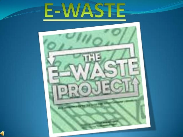E-waste is a term used to cover almost all types of electrical and electronicequipment (EEE) that has or could enter the w...