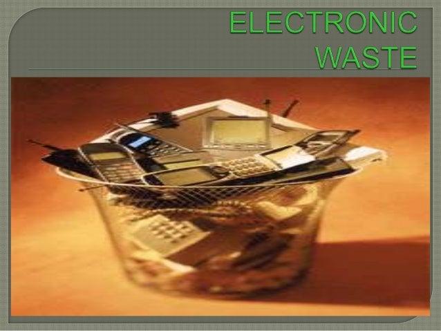 Electronic Waste(E waste)
