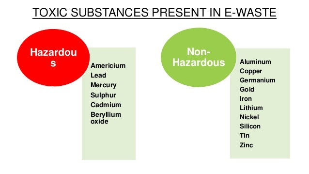 health effects of hazardous chemicals from old electronics Mechanical and chemical characteristics of electronic cigarettes contribute to potentially hazardous effects date: may 17, 2015.
