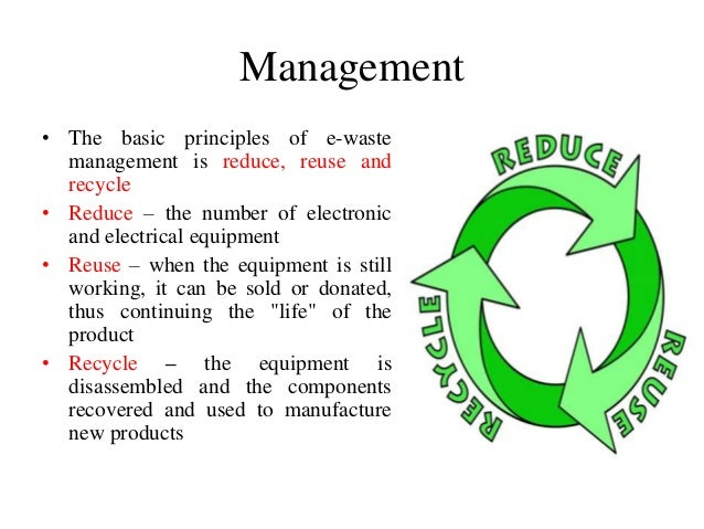 essay on e-waste management College links college reviews college essays college articles report abuse home hot topics environment more waste, no space more waste (or e-waste).