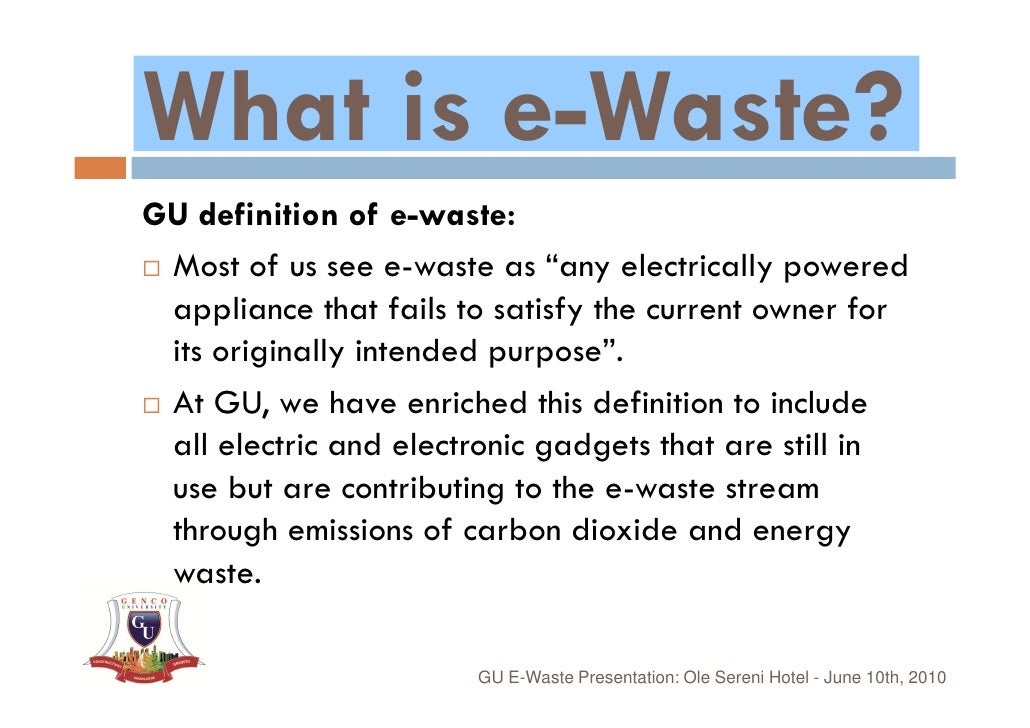 Essay on electronic waste management
