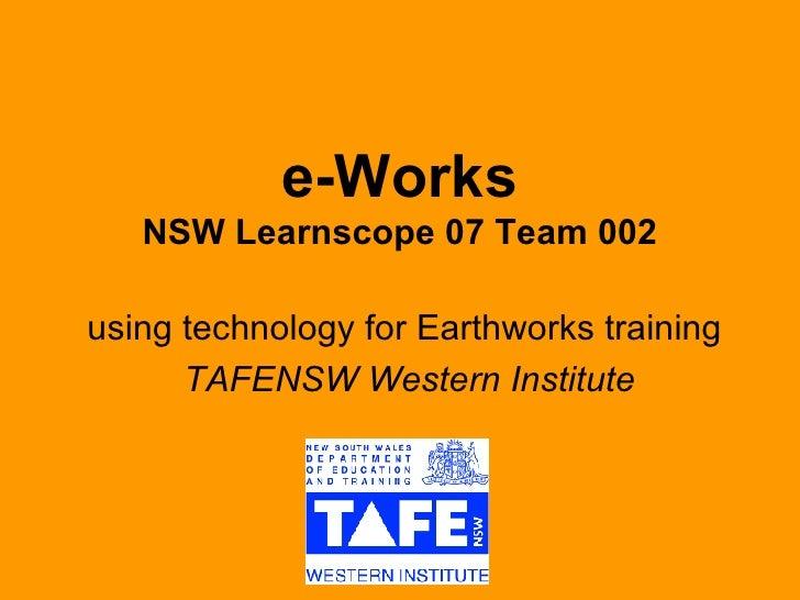 E  Works Final Report