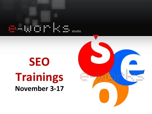 SEO Trainings November 3-17