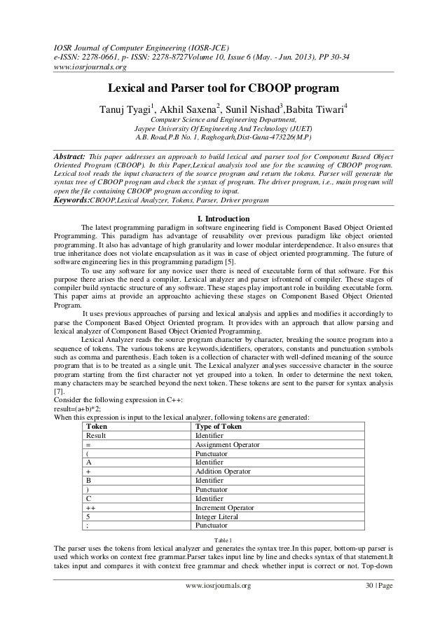 IOSR Journal of Computer Engineering (IOSR-JCE) e-ISSN: 2278-0661, p- ISSN: 2278-8727Volume 10, Issue 6 (May. - Jun. 2013)...