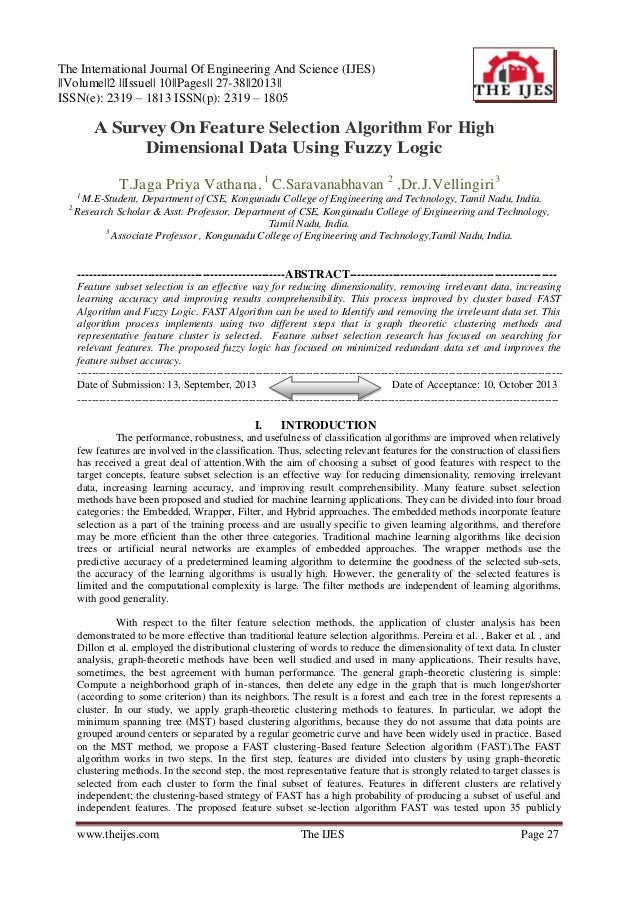 The International Journal Of Engineering And Science (IJES) ||Volume||2 ||Issue|| 10||Pages|| 27-38||2013|| ISSN(e): 2319 ...