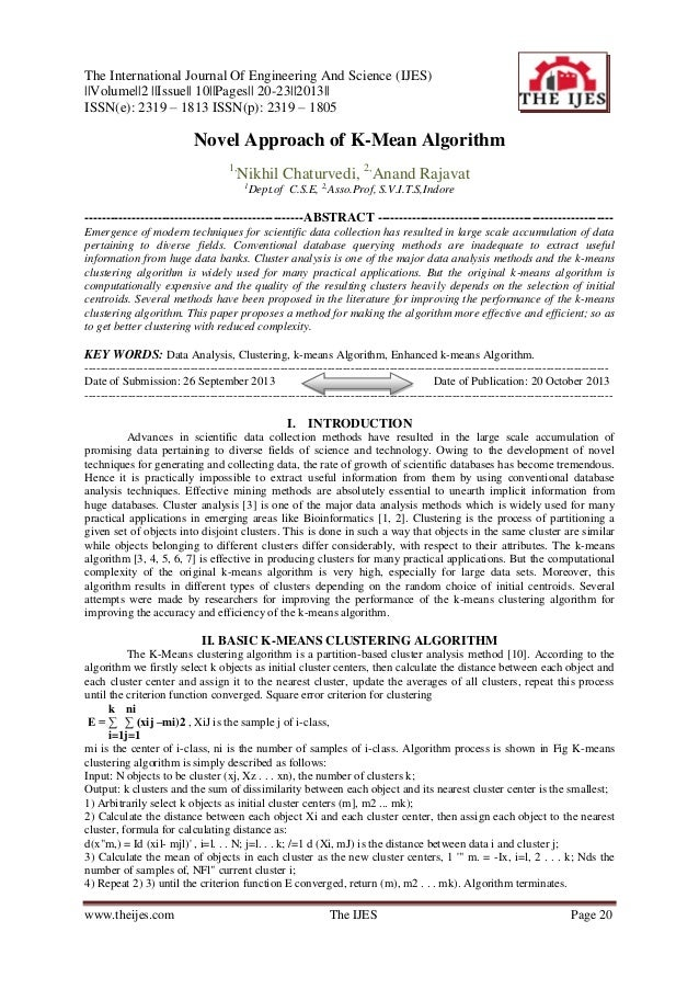 The International Journal Of Engineering And Science (IJES) ||Volume||2 ||Issue|| 10||Pages|| 20-23||2013|| ISSN(e): 2319 ...
