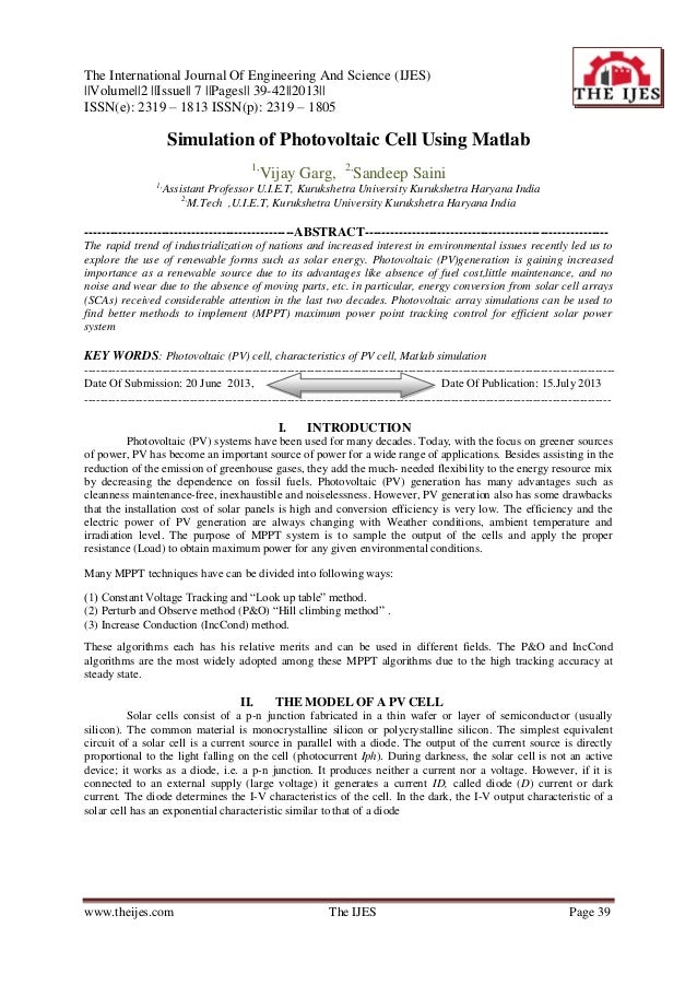 The International Journal Of Engineering And Science (IJES) ||Volume||2 ||Issue|| 7 ||Pages|| 39-42||2013|| ISSN(e): 2319 ...